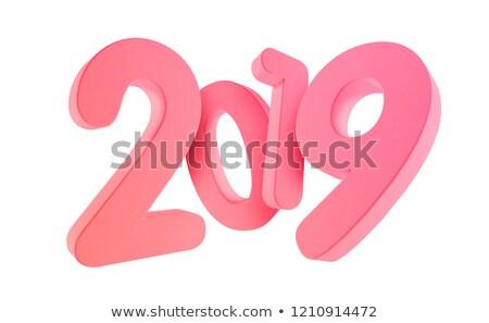 2019 bold white 3d rendering Stock photo © Wetzkaz