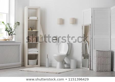 nyilvános · toalett · belső · zöld · csempék · papír - stock fotó © donatas1205