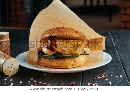 Sandwich with pineapple, Stock photo © Melnyk