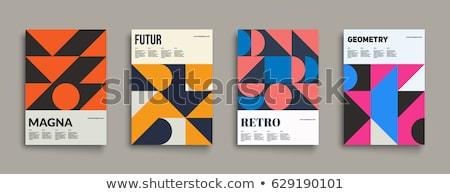 Vektor minimalista kocka terv kártya borító Stock fotó © blumer1979