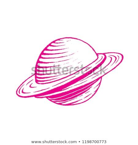 Magenta encre croquis planète illustration isolé Photo stock © cidepix