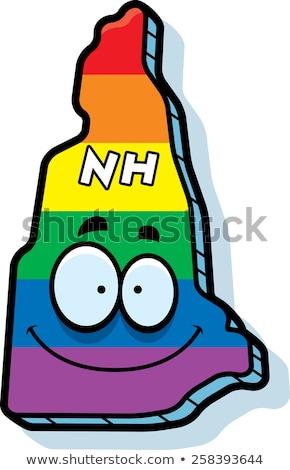 Cartoon New Hampshire matrimonio gay illustrazione sorridere Rainbow Foto d'archivio © cthoman