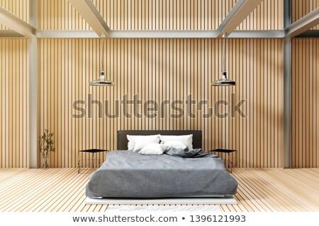 Modern endüstriyel yatak odası çatı katı bo ev Stok fotoğraf © dashapetrenko