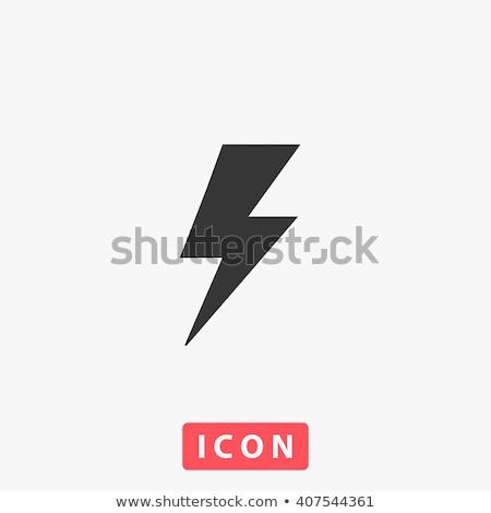 bliksem · pijl · dun · lijn · icon · web - stockfoto © smoki