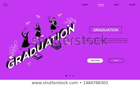 running   colorful line design style vector illustration stock photo © decorwithme