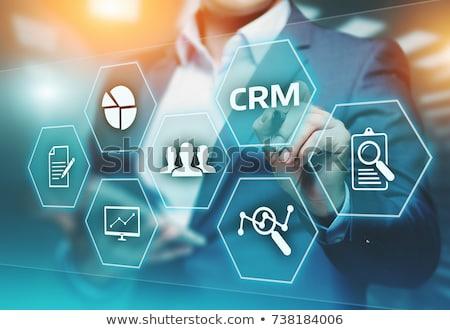 Crm клиентов отношения управления 3d иллюстрации увеличительное стекло Сток-фото © olivier_le_moal