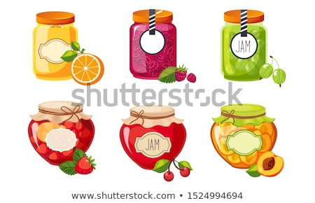 Canned Oranges Strawberries Vector Illustration Stock photo © robuart