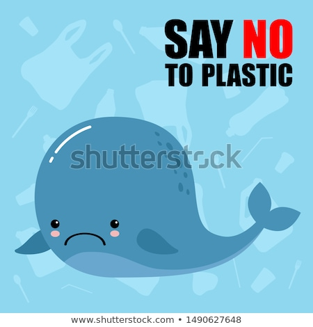 Sad Cartoon Whale Stock photo © cthoman