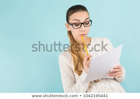 魅力のある女性 ポニーテール 紙 シート 肖像 魅力的な ストックフォト © Traimak