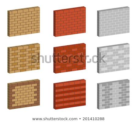 vetor · textura · vermelho · parede · de · tijolos · edifício · parede - foto stock © romvo