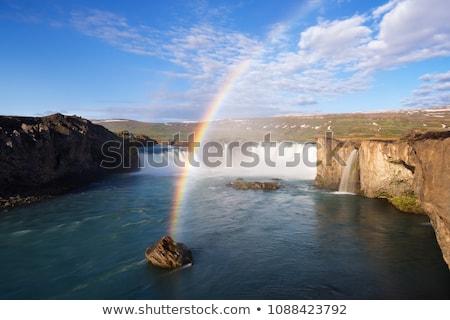 водопада радуга Солнечный утра лет пейзаж Сток-фото © Kotenko