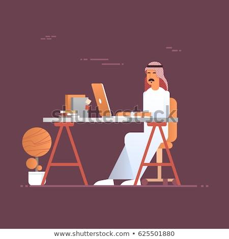 Type arab werk ingesteld arabisch man Stockfoto © toyotoyo