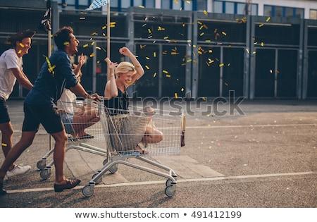 ショッピング 一緒に 女性 幸せ ストックフォト © Minervastock