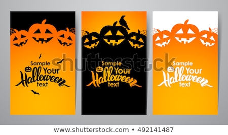 happy halloween poster with text sample vector stock photo © robuart