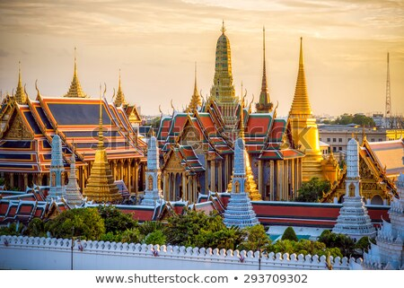 Temple of the Emerald Buddha at Grand Palace in Bangkok Stock photo © boggy