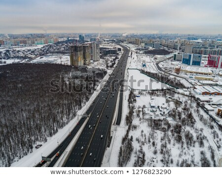 Moscow suburb. The view from the birds flight Stock photo © cookelma