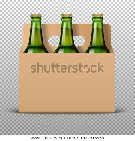Craft Beer in Bottle with Cap Realistic 3D Vector Stock photo © robuart