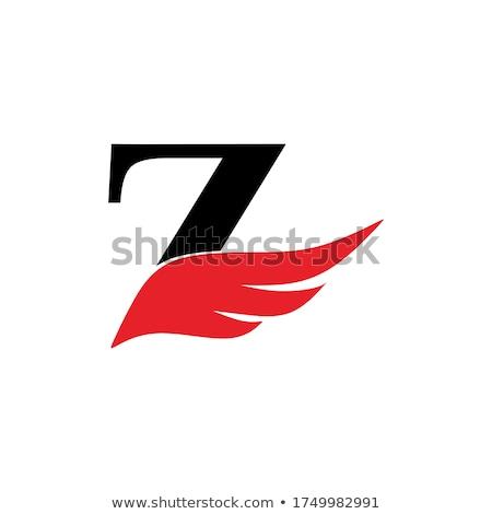 z letter red black symbol sign icon element Stock photo © blaskorizov