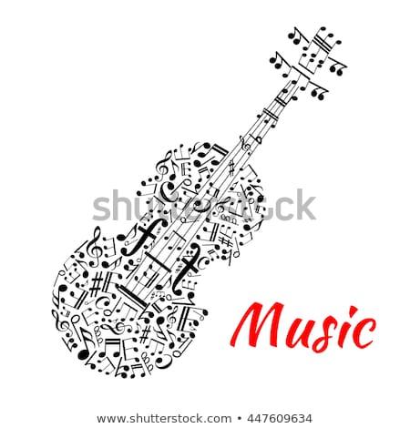 チェロ 音符 実例 音楽 背景 芸術 ストックフォト © colematt