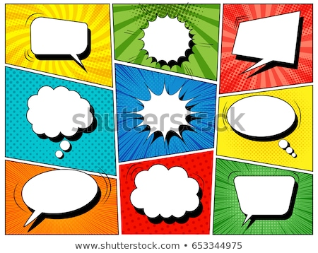 コミック ハーフトーン 異なる 色 デザイン 楽しい ストックフォト © SArts
