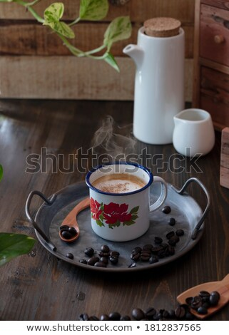 Stockfoto: Beker · koffie · hot · stand · kantoor · dranken
