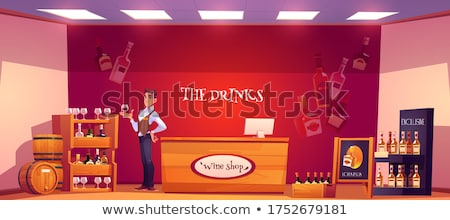 winery alcoholic drinks selling store stand vector stock photo © robuart