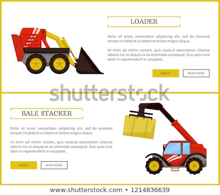 Loader Agriculture and Farming Vector Illustration Stock photo © robuart