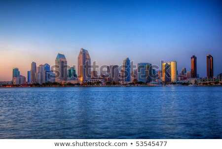 San Diego skyline on clear evening Stock photo © backyardproductions