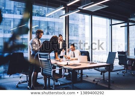 связи бизнеса Финансы деловое совещание графика стратегия Сток-фото © cifotart
