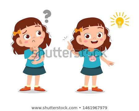 a nerd girl character stock photo © bluering