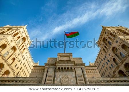 дома флаг Азербайджан белый домах Сток-фото © MikhailMishchenko