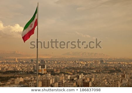 Stock photo: House with flag of iran