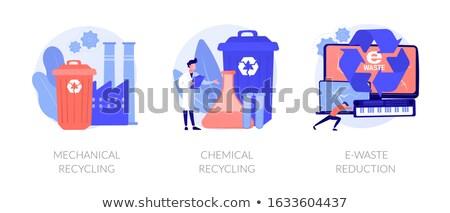механический рециркуляции специалист завода пластиковых сырье Сток-фото © RAStudio
