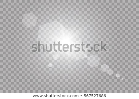 Vector transparent sunlight special lens flare light effect. Isolated sun flash rays spotlight Stock photo © Iaroslava