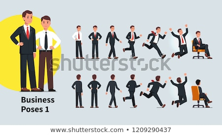 back view of a business man celebrating success stock photo © feedough