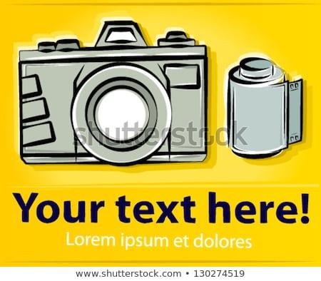 Filmstrip grafisch ontwerp sjabloon vector geïsoleerd illustratie Stockfoto © haris99