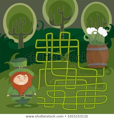 labirinto · jogo · crianças · ajudar · vermelho - foto stock © Natali_Brill