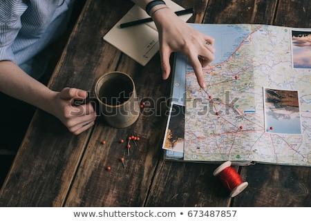 女性 旅 冒険 幸せ 小さな 人 ストックフォト © choreograph