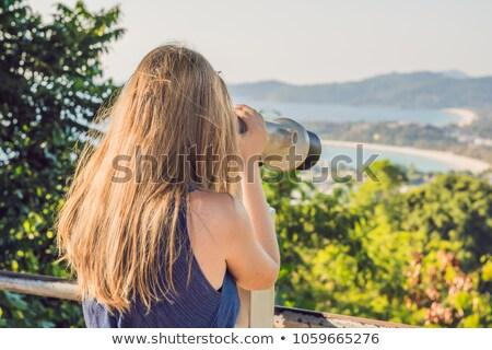 Foto stock: Jovem · belo · loiro · mulher · desfrutar · ver