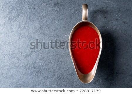 kızılcık · sos · cam · çanak · kaşık · beyaz - stok fotoğraf © alex9500