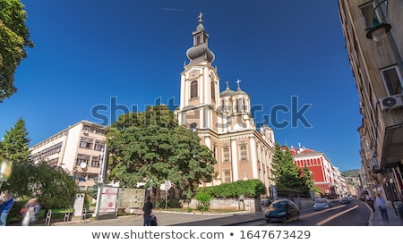 Christian prawosławny kościoły religijnych architektoniczny kościoła Zdjęcia stock © Glasaigh
