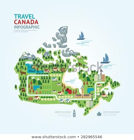 Canada flat icons set Stock photo © netkov1