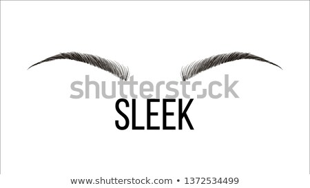 sleek rounded vector hand drawn brows shape Сток-фото © pikepicture
