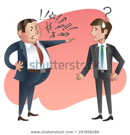 Bad Job and Dismissal, Angry Boss and Employee Stock photo © robuart