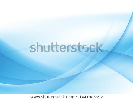 elegant blue wave background design Stock foto © SArts
