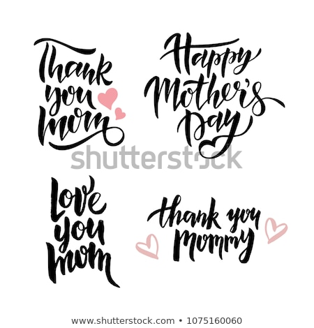 Liebe mom handschriftlich Postkarte Frühling Grußkarte Stock foto © Anna_leni