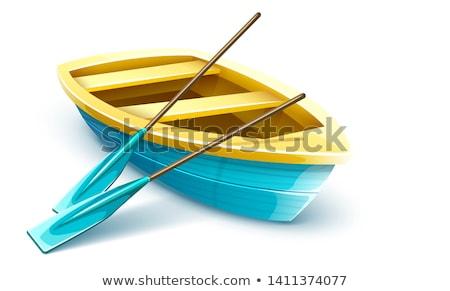 Houten visser boot vissen reis kajakken Stockfoto © LoopAll