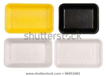 Set Schaum Fach Paket Illustration Hintergrund Stock foto © bluering