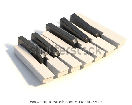 Unordered abstract piano keyboard one octave 3D Stock photo © djmilic