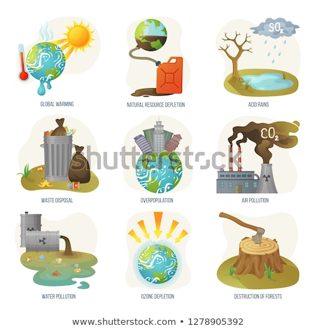 Environmental Problem, Deforestation and Ax Vector Stock photo © robuart